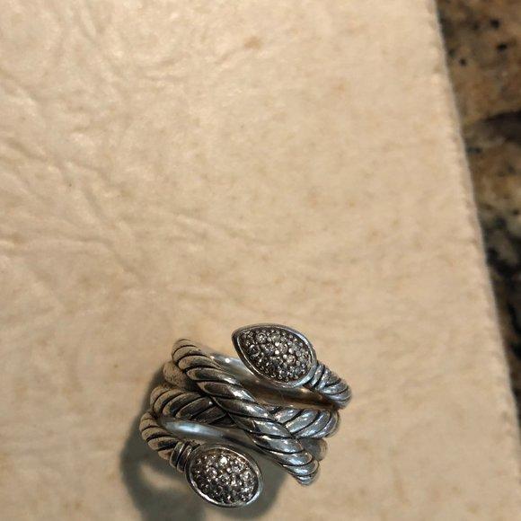 David Yurman Silver and Diamonds Ring